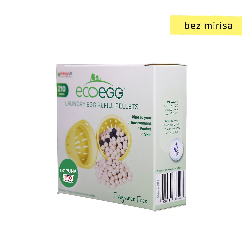 ECOEGG 2u1 dopuna za eko-deterdžent i omekšivač za veš, Bez mirisa-210 pranja